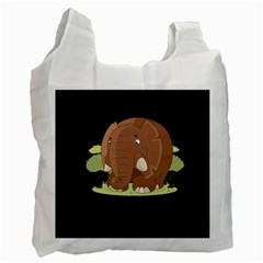 Cute Elephant Recycle Bag (one Side) by Valentinaart