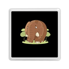 Cute Elephant Memory Card Reader (square)  by Valentinaart
