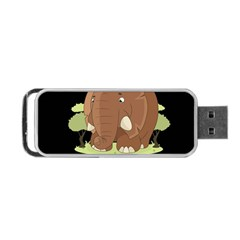 Cute Elephant Portable Usb Flash (one Side) by Valentinaart