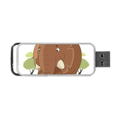 Cute Elephant Portable Usb Flash (two Sides) by Valentinaart