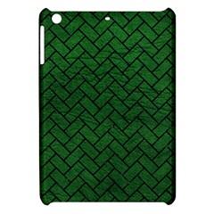 Brick2 Black Marble & Green Leather (r) Apple Ipad Mini Hardshell Case by trendistuff
