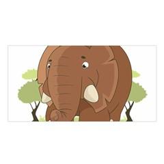 Cute Elephant Satin Shawl