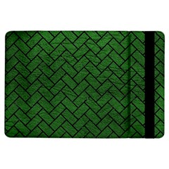 Brick2 Black Marble & Green Leather (r) Ipad Air Flip by trendistuff