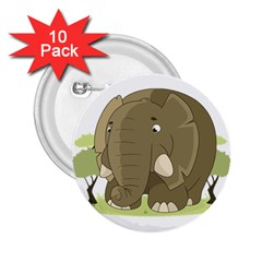 Cute Elephant 2 25  Buttons (10 Pack)  by Valentinaart