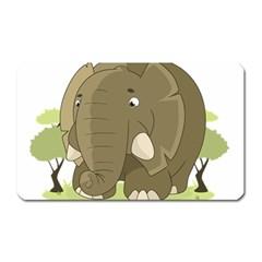 Cute Elephant Magnet (rectangular) by Valentinaart