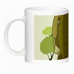Cute Elephant Night Luminous Mugs by Valentinaart