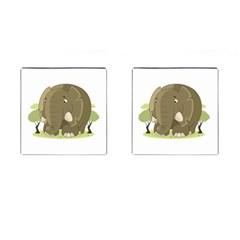 Cute Elephant Cufflinks (square) by Valentinaart