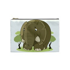 Cute Elephant Cosmetic Bag (medium)  by Valentinaart