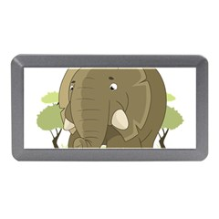 Cute Elephant Memory Card Reader (mini) by Valentinaart
