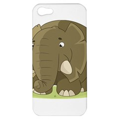 Cute Elephant Apple Iphone 5 Hardshell Case by Valentinaart