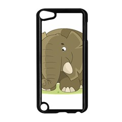 Cute Elephant Apple Ipod Touch 5 Case (black) by Valentinaart