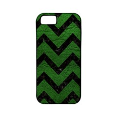 Chevron9 Black Marble & Green Leather (r) Apple Iphone 5 Classic Hardshell Case (pc+silicone) by trendistuff