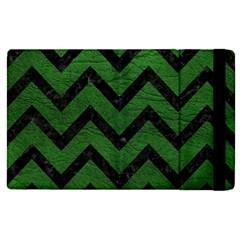 Chevron9 Black Marble & Green Leather (r) Apple Ipad Pro 9 7   Flip Case by trendistuff