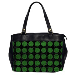 Circles1 Black Marble & Green Leather Office Handbags (2 Sides)