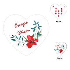 Carpe Diem  Playing Cards (heart)  by Valentinaart