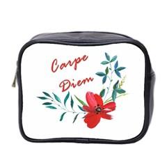 Carpe Diem  Mini Toiletries Bag 2 Side by Valentinaart