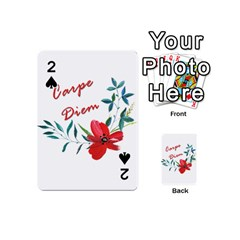 Carpe Diem  Playing Cards 54 (mini)  by Valentinaart