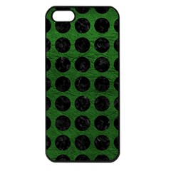 Circles1 Black Marble & Green Leather (r) Apple Iphone 5 Seamless Case (black) by trendistuff