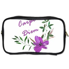 Carpe Diem  Toiletries Bags 2 Side by Valentinaart