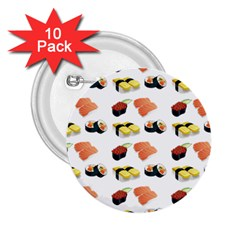 Sushi Pattern 2 25  Buttons (10 Pack)  by Valentinaart