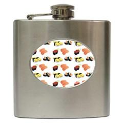 Sushi Pattern Hip Flask (6 Oz) by Valentinaart