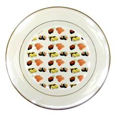 Sushi Pattern Porcelain Plates by Valentinaart