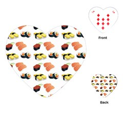 Sushi Pattern Playing Cards (heart)  by Valentinaart