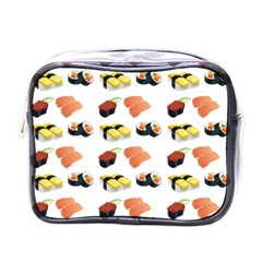 Sushi Pattern Mini Toiletries Bags by Valentinaart