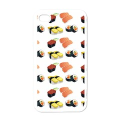 Sushi Pattern Apple Iphone 4 Case (white) by Valentinaart