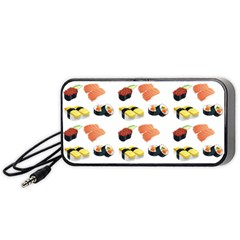 Sushi Pattern Portable Speaker by Valentinaart