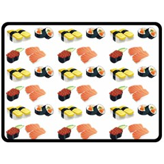 Sushi Pattern Double Sided Fleece Blanket (large)  by Valentinaart