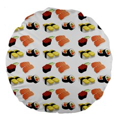 Sushi Pattern Large 18  Premium Flano Round Cushions by Valentinaart