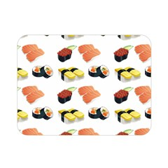 Sushi Pattern Double Sided Flano Blanket (mini)  by Valentinaart