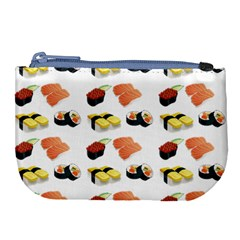 Sushi Pattern Large Coin Purse by Valentinaart