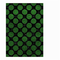 Circles2 Black Marble & Green Leather Small Garden Flag (two Sides) by trendistuff
