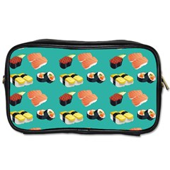 Sushi Pattern Toiletries Bags 2 Side by Valentinaart