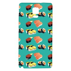 Sushi Pattern Galaxy Note 4 Back Case by Valentinaart