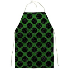 Circles2 Black Marble & Green Leather (r) Full Print Aprons by trendistuff