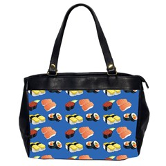 Sushi Pattern Office Handbags (2 Sides)  by Valentinaart