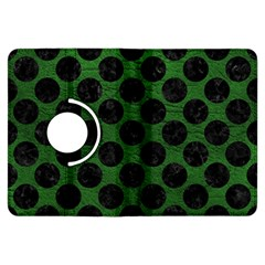 Circles2 Black Marble & Green Leather (r) Kindle Fire Hdx Flip 360 Case by trendistuff