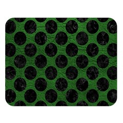 Circles2 Black Marble & Green Leather (r) Double Sided Flano Blanket (large)