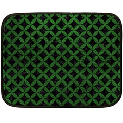 Circles3 Black Marble & Green Leather Double Sided Fleece Blanket (mini)  by trendistuff