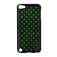 Circles3 Black Marble & Green Leather (r) Apple Ipod Touch 5 Case (black) by trendistuff