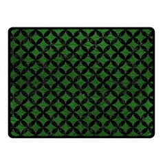 Circles3 Black Marble & Green Leather (r) Double Sided Fleece Blanket (small)  by trendistuff