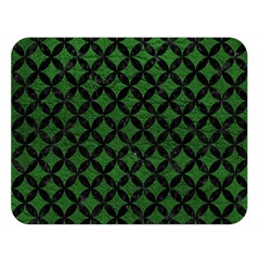Circles3 Black Marble & Green Leather (r) Double Sided Flano Blanket (large)  by trendistuff