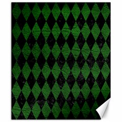 Diamond1 Black Marble & Green Leather Canvas 20  X 24   by trendistuff