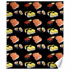 Sushi Pattern Canvas 8  X 10  by Valentinaart