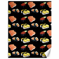 Sushi Pattern Canvas 36  X 48   by Valentinaart