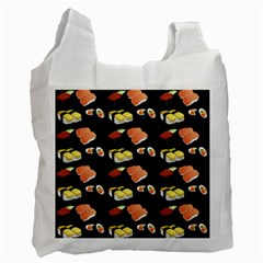 Sushi Pattern Recycle Bag (one Side) by Valentinaart