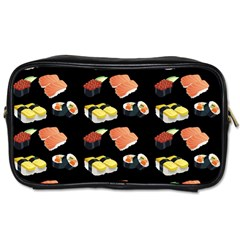 Sushi Pattern Toiletries Bags by Valentinaart